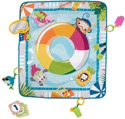 Постелка за активна гимнастика - Dive Right In - Комплект с 3 играчки, 12 карти и дъвкалка -