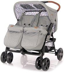 Бебешка количка за близнаци - Twin 2020 - С 4 колела -