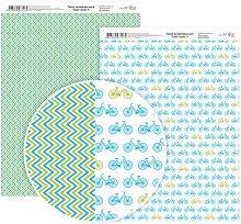 Двустранен картон за скрапбукинг - Велосипеди