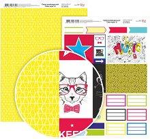 Двустранен картон за скрапбукинг - Етикети