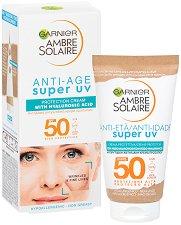 Garnier Ambre Solaire Anti-Age Super UV Protection Cream - SPF 50 - продукт