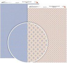 Двустранен картон за скрапбукинг - Цветя