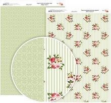 Двустранен картон за скрапбукинг - Райе с рози