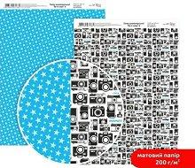Двустранен картон за скрапбукинг - Фотоапарати