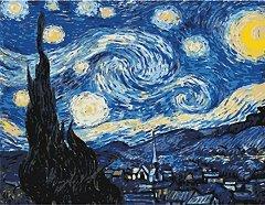 Рисуване по номера с акрилни бои - Звездна Нощ: Ван Гог