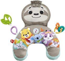 Възглавница за игра по корем - Music & Vibe Sloth - С мелодии и вибрации -