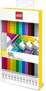 Гел химикалки - LEGO - Комплект от 12 броя