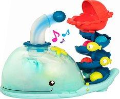 """Писта с топчета - Кит - Бебешка играчка със светлинни и звукови ефекти : От серията """"B toys"""" -"""