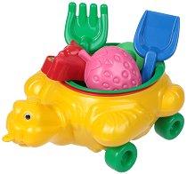 Комплект за игра с пясък - Костенурка - детски аксесоар