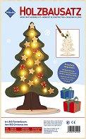 Коледна елха - Дървен 3D пъзел -