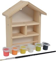 Направи сам - Дървена къщичка за пчелички -