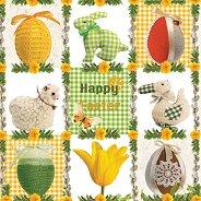 Салфетки за декупаж - Честит Великден - Пакет от 20 броя