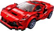"""Спортен автомобил - Ferrari F8 Tributo - Детски конструктор от серията """"LEGO: Speed Champions"""" - раница"""