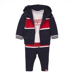 Бебешки комплект - Суитшърт, блуза и панталон -