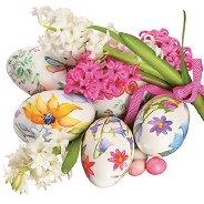 Салфетки за декупаж - Зюмбюли с великденски яйца