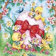 Салфетки за декупаж - Великденски патета - Пакет от 20 броя