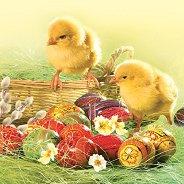 Салфетки за декупаж - Иде Великден - Пакет от 20 броя