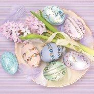 Салфетки за декупаж - Великденски пролетни яйца - Пакет от 20 броя