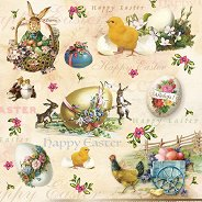 Салфетки за декупаж - Весел Великден - Пакет от 20 броя