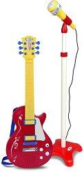Електрическа китара с колан и микрофон -