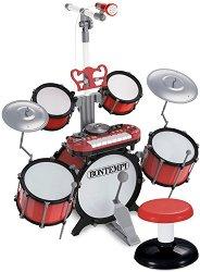 Барабани с микрофон и DJ клавиатура -
