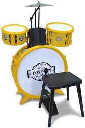 Барабани със столче - Toy Band -