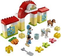 """Конюшня с понита - Детски конструктор от серията """"LEGO Duplo"""" - раница"""