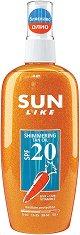 Sun Like Shimmering Tan Oil - SPF 20 - Слънцезащитно олио за тяло с блестящи частици - крем