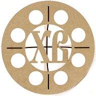 Поставка за яйца от MDF с инициали ХВ - Предмет за декориране с размери 20 x 9 cm