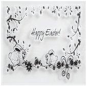 Силиконов печат - Happy Easter - Размер 10 x 10 cm