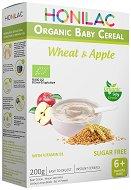HONILAC - Био инстантна безмлечна каша с пшеница и ябълка - Опаковка от 200 g за бебета над 6 месеца -