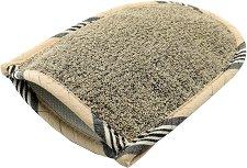 Ръкавица за баня с естествен лен -