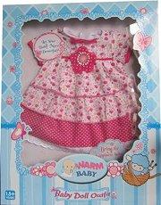 Розова рокличка - Warm baby - кукла