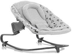 Бебешки шезлонг - Alpha Bouncer Premium: Nordic Grey - продукт