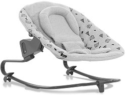 Бебешки шезлонг - Alpha Bouncer Premium: Nordic Grey -