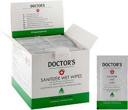 Дезинфекциращи влажни кърпички - Doctor's - крем