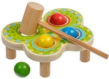 Дървена игра с чукче - Пеперуда -