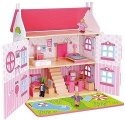 Дървена къща за кукли - Приказен свят -