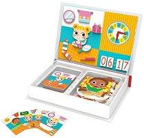 Магнитна книга - Научи се да познаваш часовника - играчка