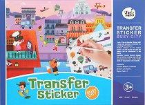 Забързан град - Творчески комплект със стикери за многократна употреба -