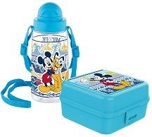 Комплект бутилка и кутия за храна - Мики Маус - играчка
