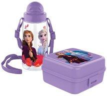 Комплект бутилка и кутия за храна - Замръзналото кралство - играчка