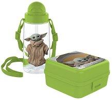 Комплект бутилка и кутия за храна - The Mandalorian - играчка