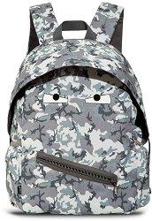 Ученическа раница - Grillz Grey Camouflage - раница