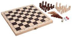 Табла, шах и зарове - играчка