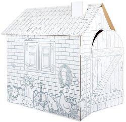Детска къща от картон -