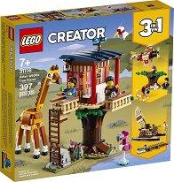 LEGO: Creator - Дървесна къща за сафари и диви животни 3 в 1 - несесер