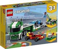LEGO: Creator - Автовоз за състезателни коли 3 в 1 - раница