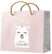 Подаръчна торбичка - Llama: Dream Like a Unicorn -