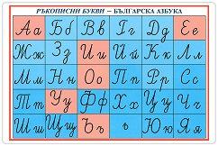 Мини табло: Ръкописни букви - Българска азбука -